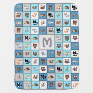Couvertures Pour Bébé Couverture personnalisable de bébé de patchwork de