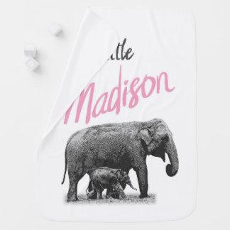 """Couvertures Pour Bébé Couverture personnalisée de bébé """"peu de Madison """""""