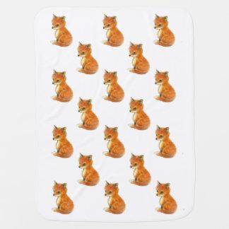 Couvertures Pour Bébé Couverture vintage de bébé de Fox de bébé
