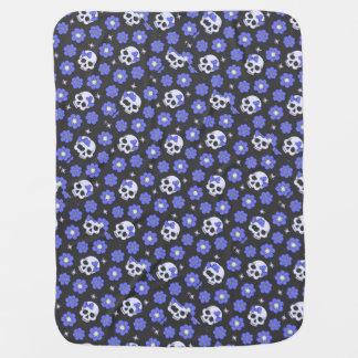 Couvertures Pour Bébé Crânes de flower power de bigorneau