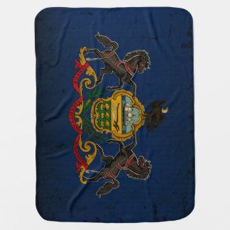 Couvertures Pour Bébé CRU de drapeau d'état de la Pennsylvanie