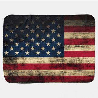 Couvertures Pour Bébé Cru grunge semblant le drapeau américain