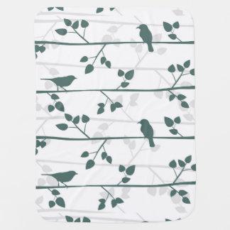 Couvertures Pour Bébé Décor élégant de crèche de motif moderne d'oiseau