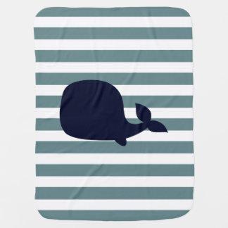 Couvertures Pour Bébé Décor nautique mignon de crèche d'océan d'animal