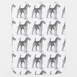 Couvertures Pour Bébé Dessin élégant de chien d'Airedale Terrier