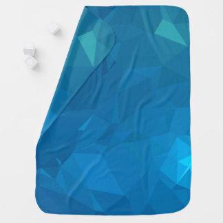 Couvertures Pour Bébé Dessins géométriques élégants et modernes - bleu