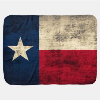 Couvertures Pour Bébé Drapeau grunge vintage du Texas