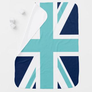 Couvertures Pour Bébé Drapeau turquoise et bleu d'Union Jack