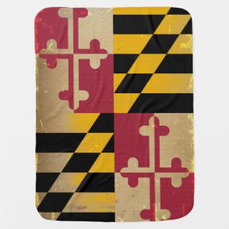 Couvertures Pour Bébé Drapeau VINTAGE.png du Maryland