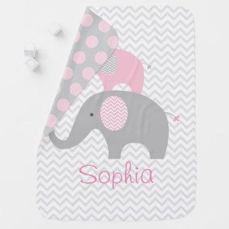 Couvertures Pour Bébé Éléphant rose
