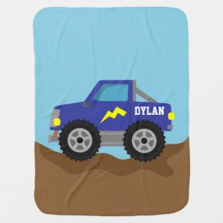 Couvertures Pour Bébé Emballant le camion de monstre bleu, pour des