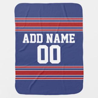 Couvertures Pour Bébé Équipe Jersey avec le nom et le nombre faits sur