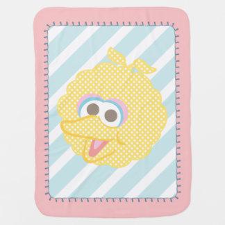 Couvertures Pour Bébé Grand visage de point de polka de bébé d'oiseau