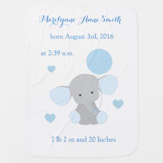 Couvertures Pour Bébé Gris bleu Chevron de ciel de stat de bébé