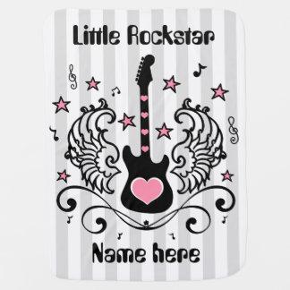 Couvertures Pour Bébé Guitare rose d'étoile de balancier avec des ailes