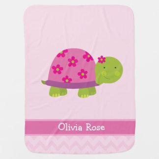 Couvertures Pour Bébé La tortue mignonne a personnalisé masqué pour des
