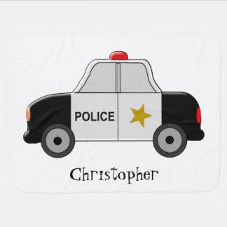 Couvertures Pour Bébé La voiture de police ajoutent juste le nom