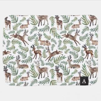 Couvertures Pour Bébé Les cerfs communs décorés d'un monogramme