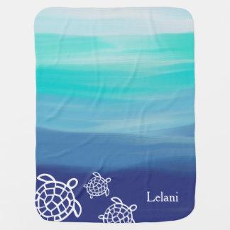 Couvertures Pour Bébé Les eaux personnalisées d'océan de tortues de mer