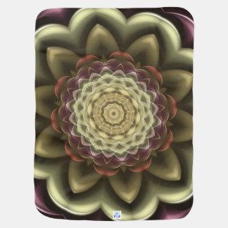 Couvertures Pour Bébé Mandala de kaléidoscope de fleur de cactus