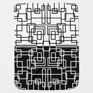 Couvertures Pour Bébé Mélange géométrique moderne de BW de carrés