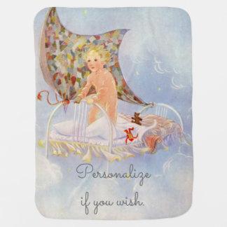 Couvertures Pour Bébé Mon lit est un bateau - image vintage par Eulalie