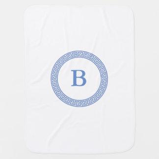 Couvertures Pour Bébé Monogramme principal grec de conception