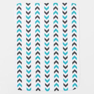 Couvertures Pour Bébé Motif blanc et bleu géométrique moderne de flèches