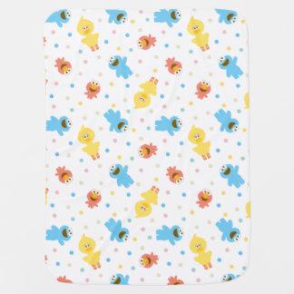 Couvertures Pour Bébé Motif de point blanc de polka de copains de sésame