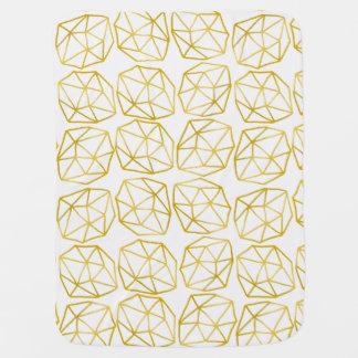 Couvertures Pour Bébé Motif géométrique unique polygonal d'or élégant
