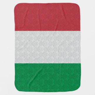 Couvertures Pour Bébé Motif italien de damassé de drapeau