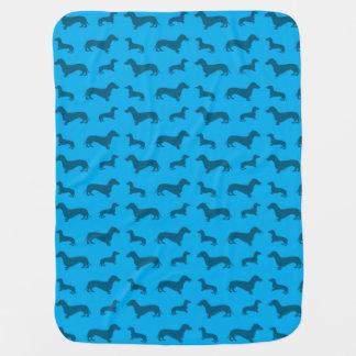 Couvertures Pour Bébé Motif mignon de teckel de bleu de ciel