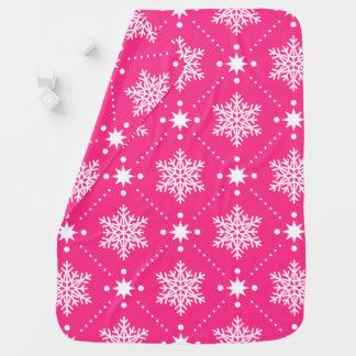 Couvertures Pour Bébé Motif rose et blanc Girly de Noël de flocons de