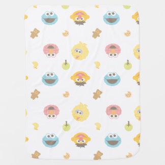 Couvertures Pour Bébé Motif velu de caractère d'amis de Sesame Street