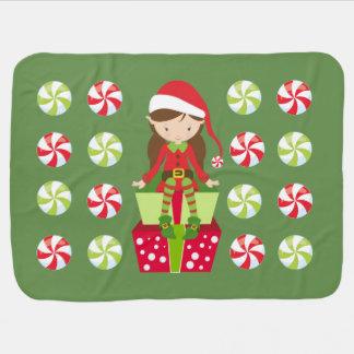 Couvertures Pour Bébé Noël d'écrasement de sucrerie