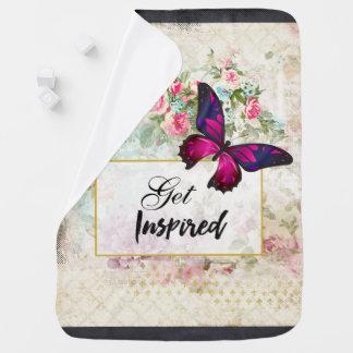 Couvertures Pour Bébé Obtenez la citation inspirée et le papillon rose