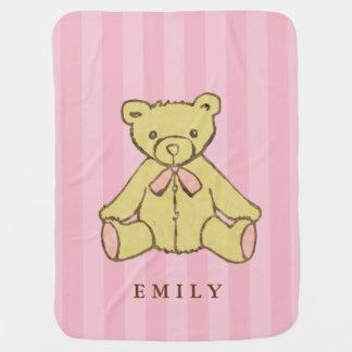 Couvertures Pour Bébé Ours rose de fille personnalisé