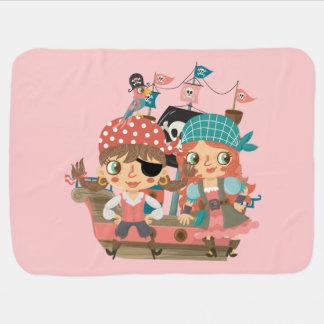 Couvertures Pour Bébé Pirates Girly