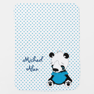 Couvertures Pour Bébé Point de polka personnalisé par ours panda mignon