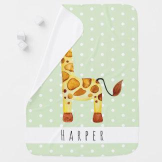 Couvertures Pour Bébé Points unisexes mignons et nom de safari de girafe