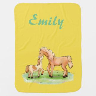 Couvertures Pour Bébé Poney équestre de cheval unisexe de garçon de bébé