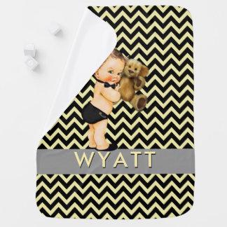 Couvertures Pour Bébé Prince noir et jaune Personalized Nursery de