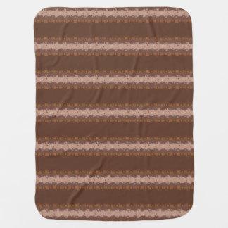 Couvertures Pour Bébé Rayures de Brown avec le motif de cercles