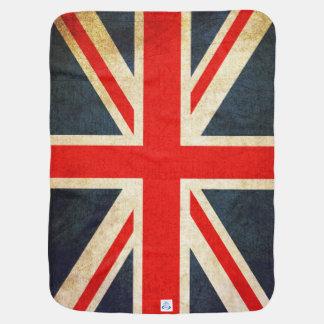 Couvertures Pour Bébé Rétro couverture britannique de bébé de drapeau