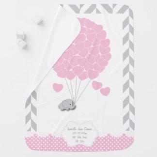 Couvertures Pour Bébé Rose, bébé gris blanc d'éléphant