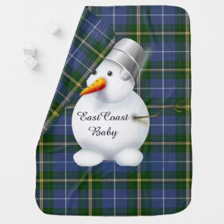 Couvertures Pour Bébé Tartan de la Nouvelle-Écosse de bonhomme de neige