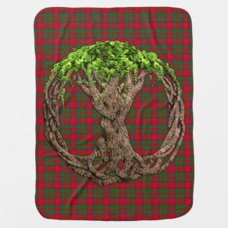 Couvertures Pour Bébé Tartan de Macintosh de clan et arbre de la vie
