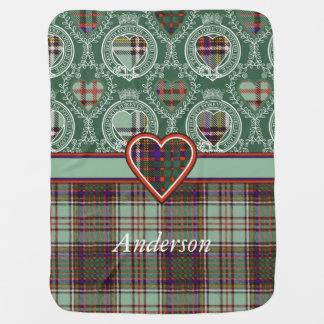 Couvertures Pour Bébé Tartan d'écossais de plaid de clan d'Anderson