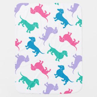 Couvertures Pour Bébé Teckels colorés par pastel