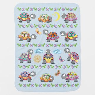Couvertures Pour Bébé tortues de bande dessinée